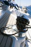Treuil de voilier Photographie stock