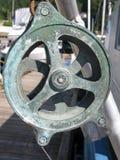 Treuil de voilier, support de corde Image libre de droits