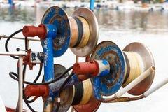 Treuil pour des filets de pêche Photographie stock libre de droits