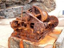 Treuil rouillé de vapeur Photographie stock libre de droits