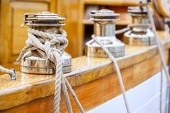 Treuils de bateau à voiles Photographie stock