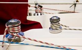 Treuils de bateau Photo libre de droits