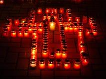 Treurig-kaarsen stock afbeeldingen