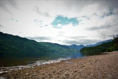 Trevail på lagun Royaltyfria Bilder