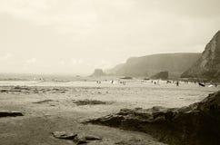 Trevaunance小海湾,圣艾格尼丝康沃尔郡 库存图片