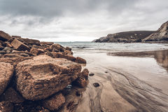Trevaunance-Bucht Cornwall England Großbritannien Stockbild