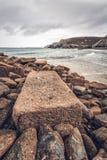 Trevaunance-Bucht Cornwall England Großbritannien Lizenzfreie Stockfotos