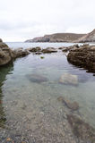 Trevaunance-Bucht Cornwall England Großbritannien Stockfotografie