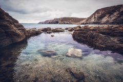 Trevaunance-Bucht Cornwall England Großbritannien Stockbilder
