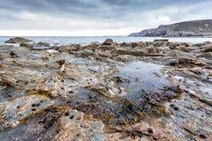 Trevaunance-Bucht Cornwall England Großbritannien Lizenzfreie Stockbilder