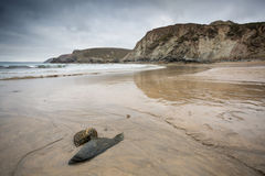 Trevaunance-Bucht Cornwall England Großbritannien Stockfotos