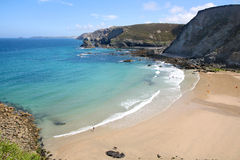 Trevaunance Cove, St. Agnes. Stock Photography