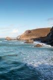 Trevaunance zatoczka Cornwall England uk Obrazy Stock