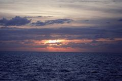 trevel游艇的kekova地中海 日落 库存照片