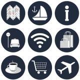 The trevel icons Royalty Free Stock Photos