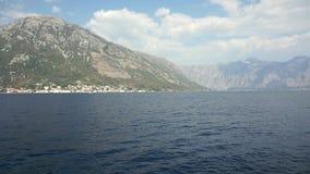 Trevel on sailing boat in the Bay of Boka, Montenegro, Adriatic Sea, Mediterranean Sea in September 2016 4k stock video footage
