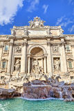 Trevi喷泉。 罗马,意大利。 免版税库存图片