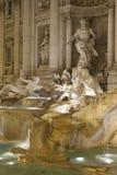 Trevi喷泉在晚上 免版税库存照片