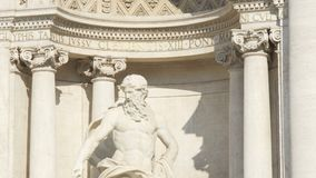 Trevi喷泉在罗马-意大利 Fontana di Trevi著名地标在罗马 股票录像