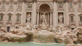 Trevi喷泉在罗马 股票视频