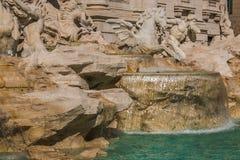 Trevi喷泉是最大的巴落克式样在城市和那个最著名中在位于罗马的世界上 免版税库存图片