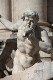 Trevi的喷泉雕象细节 免版税库存图片