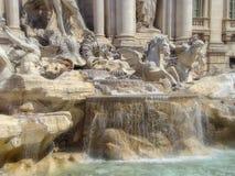 从Trevi喷泉的细节 图库摄影
