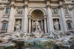 Trevi喷泉罗马,意大利 图库摄影