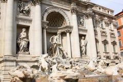 Fontana在Piazza di Trevi,拉齐奥的di Trevi 免版税库存图片