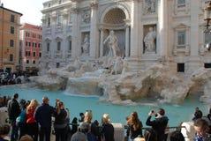 Trevi喷泉,地标,古老罗马,旅游业,广场 库存图片