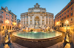Trevi喷泉,罗马 免版税图库摄影