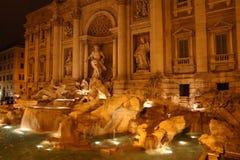 Trevi喷泉 免版税图库摄影