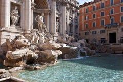 Trevi喷泉(Fontana di Trevi)在罗马,意大利, 免版税图库摄影