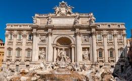 Trevi喷泉(Fontana di Trevi)在罗马,意大利 免版税库存图片