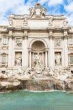 Trevi喷泉(Fontana di Trevi)在罗马 库存照片
