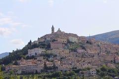 Trevi,意大利地平线 库存照片