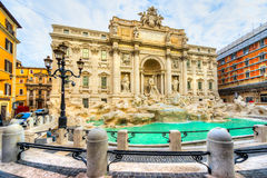 TREVI της Ρώμης πηγών Ιταλία Στοκ εικόνες με δικαίωμα ελεύθερης χρήσης