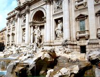 Trevi. Details of the Trevi Fountain yields many interpretations Stock Images