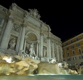 Trevi. Fountain in a night shot Stock Images