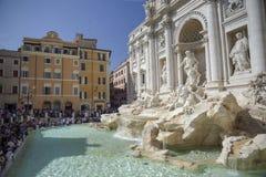Trevi-Brunnen, barocke Architektur in Rom, Italien stockbild