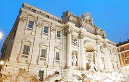 Trevi-Brunnen bis zum Nacht, Rom, Italien Lizenzfreies Stockbild