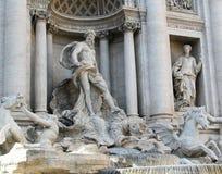 Trevi-Brunnen, Fontana di Trevi, in Rom Italien lizenzfreie stockbilder