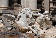 Trevi-Brunnen ist einer der berühmtesten Brunnen in der Welt Lizenzfreie Stockbilder