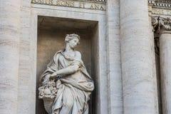 Trevi-Brunnen Rom, Italien Stockbilder