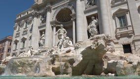 Trevi-Brunnen in Rom, Italien stock video footage