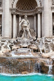 Trevi-Brunnen in Rom - Italien. (Fontana di Trevi). Abschluss oben Lizenzfreies Stockfoto