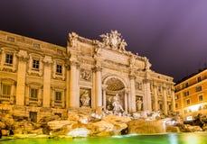 Trevi da fonte durante o nivelamento de horas em Roma Fotos de Stock Royalty Free