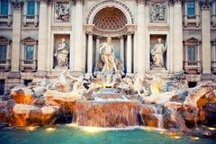 Trevi de Fontain, Roma, Itália Foto de Stock Royalty Free