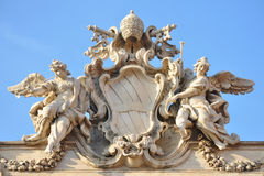 trevi fontana di детали стоковое изображение
