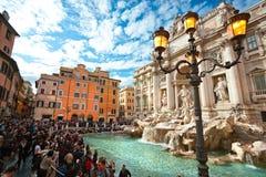 Trevi fontanna, Rzym. Zdjęcia Royalty Free